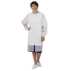Carton de 50 blouses pp 40gr zip sans poche xl blanc