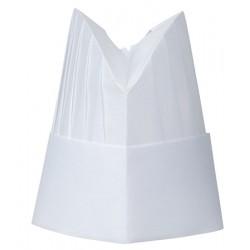 Carton de 50 toques viscose ovale plissée 20cm