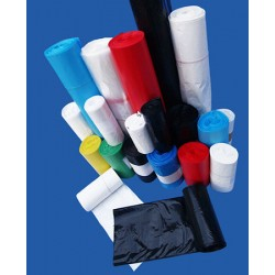 Carton de 10 rlx de 50 sacs poubelles50L hd 14 microns blanc