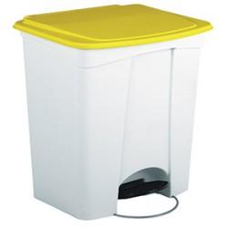 Collecteur JVD à pédale HACCP 30 L couvercle jaune