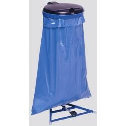 Support sac 120L avec pédale et couvercle plastique