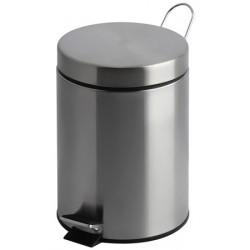 Lot de 6 poubelles à pédale inox mat 3 litres